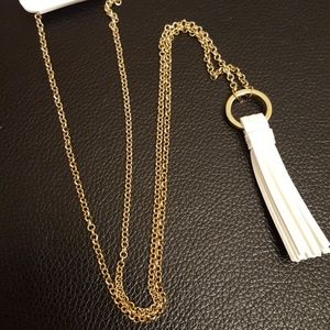 Long Gold Necklace w/Tassel
